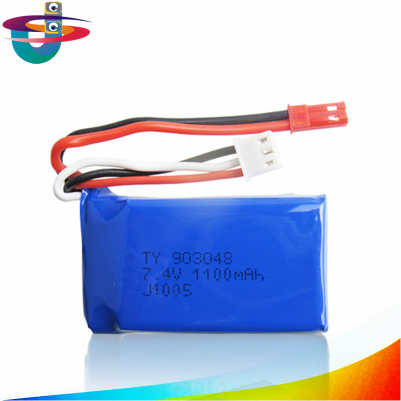 One piece 1PC 7.4V 1100mAh Lipo Battery Spare Part for WeiLi A949 A959 A969 A979 AK929 RC Quadcopter
