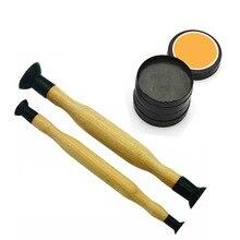 Притирка клапанов деревянная рукоятка с присоской шлифовальный песок для авто мотоцикла цилиндр двигателя клапаны пыль шлифовальный инструмент