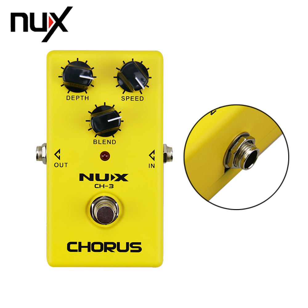 NUX CH-3 Classic Analog Electric Guitar Effect Pedal Chorus Low Noise BBD True Bypass Guitarra Effect Pedal mooer mini ensemble king electric guitar effect pedal true bypass pure analog chorus sound
