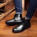 Engrossar botas de chuva à prova d' água à prova d' água sapatos de inverno homens botas de chuva de borracha de água do menino tornozelo fivela botas 24.5-27 cm pé