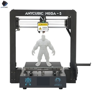 2019 Anycubic 3D Printer Mega S New Print Full Metal Frame Industrial Grade High Precision Impresora 3d Print Kits DIY 3d ducker