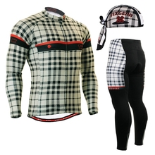 2017 Winter long sleeve Cycling Jerseys sets clothes youth England check Bicycle Clothing breathable Bike Sportswear suits