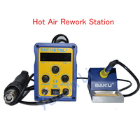 1pc LED Digital Display SMD Brushless Hot Air Rework Station Electric Soldering Iron And Heat Gun