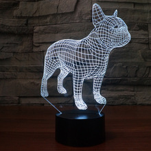 USB Plug Remote control LED Night light Cartoon Animal Dog Parlor Desk Lamp Children room Bedside Deco Kid Gift