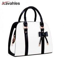 Новый Для женщин сумки черный бант кожаная сумка на ремне бантом Сумка женская конфеты Для женщин Курьерские сумки Для женщин сумка клатч bolsapp-379