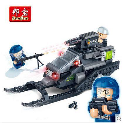 Banbao 6212 super-polizia thunder cannon 168 pz building block di plastica imposta educativi mattoni fai da te giocattoli per i bambini