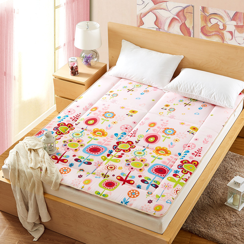 cartoon Folding soft mattress  queen full twin size 3.5cm thickness wfgogo thickness 23 cm spring mattress twin high density vacuum compression foam latex soft bed bedding