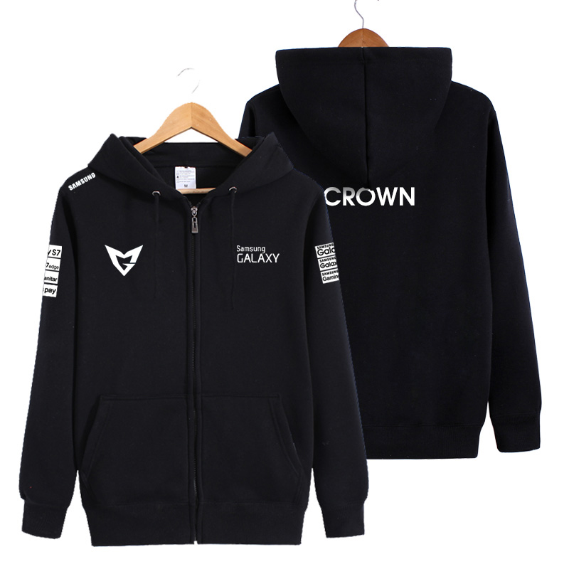 Game LOL SSG Team Hoodies S6 Ruler Ambition Wraith Cuvee Crown Cosplay Costume Unisex Jacket Coat