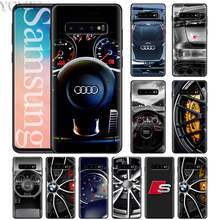 for Audi Car RS Logo Black Soft Case for Samsung Galaxy S10 Plus S9 S8 S10e S7 A50 A70 Note 9 8 Silicone Case Coque(China)