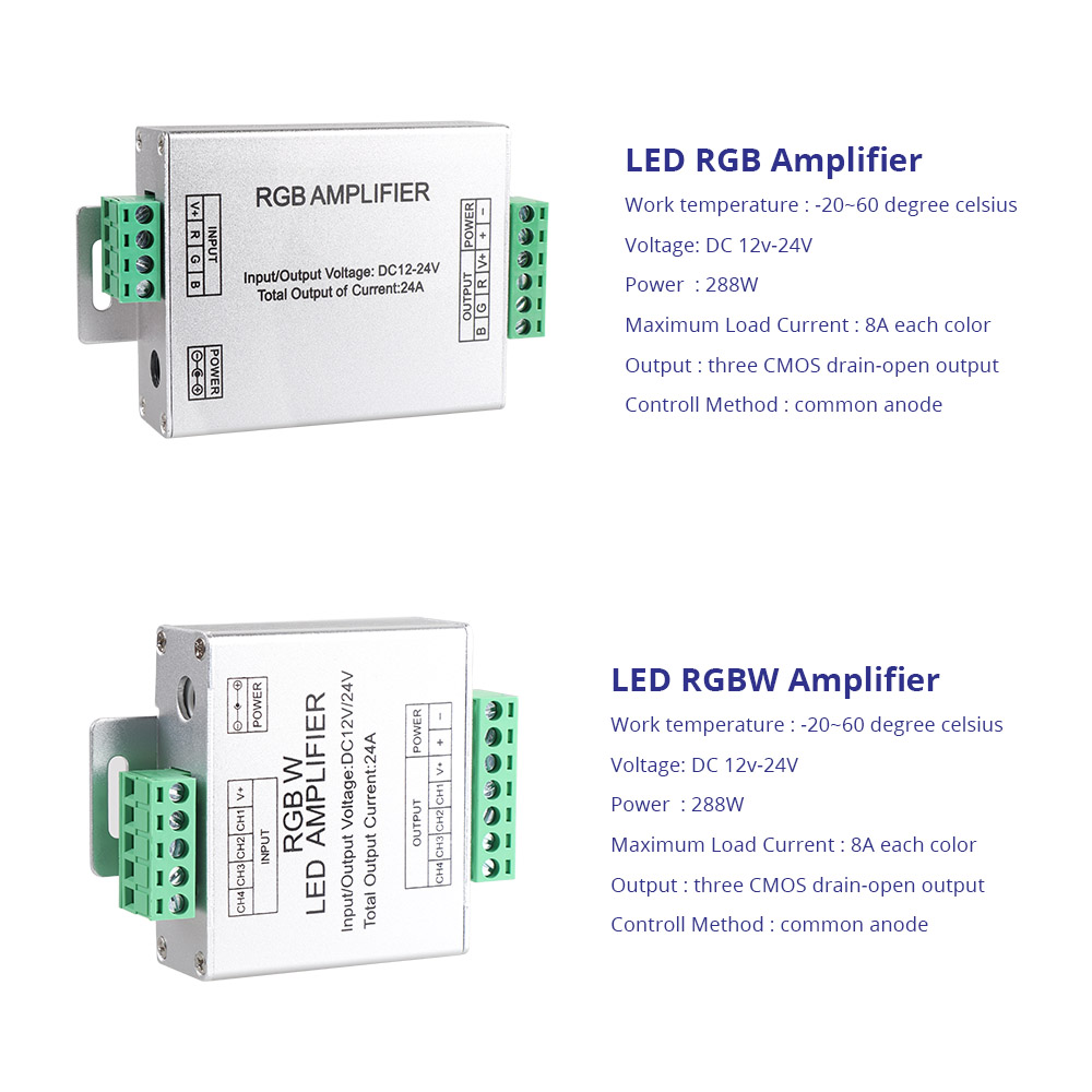 DC12-24V 24A RGB RGBW Amplifier LED Controller signal Amplifier for LED Strip RGB RGBW RGBWW Power Repeater Console