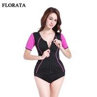 FLORATA Hot Sale Neoprene Sauna Waist Trainer Zipper Vest Corset Shapewear Women Slimming Underwear Bodysuits