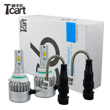 Tcart 2x Car Led Light Headlight Auto Head lamp DIPPED BEAM Low Beam C6F 6000K White 12V 36W 9006 HB4 For Volkswagen golf 4 MK 6