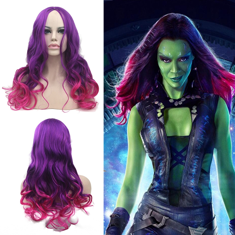 Morematch Best Quality Guardians Of The Galaxy Gamora Cosplay Wig With Free Hairnet 60cm