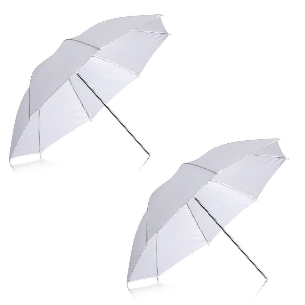 Neewer 2 Pack 33 /84 cm Blanc Translucide Doux Parapluie pour Photo et Vidéo Studio Tir