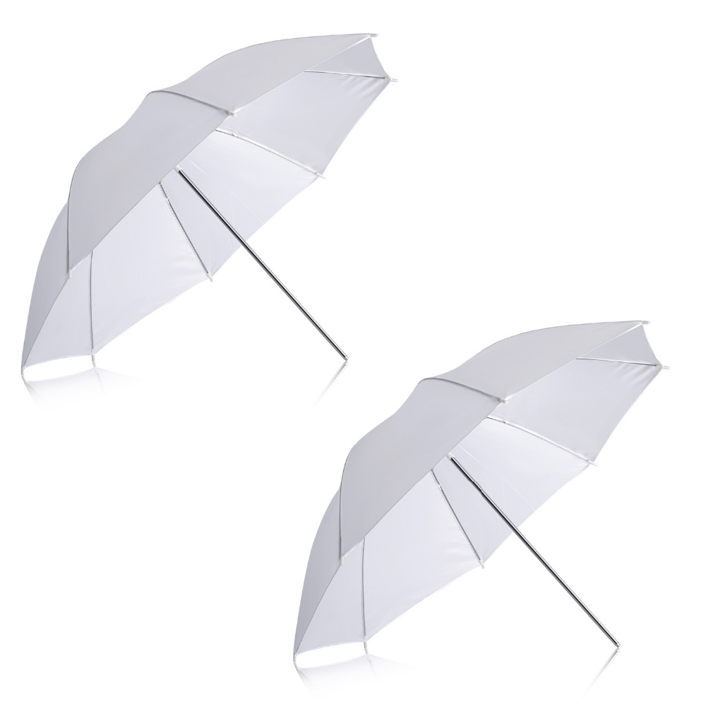 Neewer 2 Pack 33/84cm White Translucent Soft Umbrella for Photo and Video Studio Shooting free shipping dia 84cm chinese paper parasol rain sunshade womens umbrella with anthemy picture handmade oiled paper umbrella