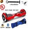 Easy People 2 Wheel HOVERBOARD Bluetooth Speakers Handlebar Motorized Scooter Red UL Certified