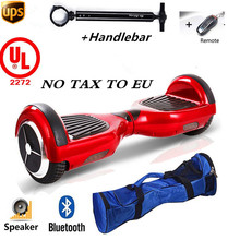 Easy People 2 Wheel HOVERBOARD Bluetooth + Speakers+Handlebar Motorized Scooter Red UL Certified