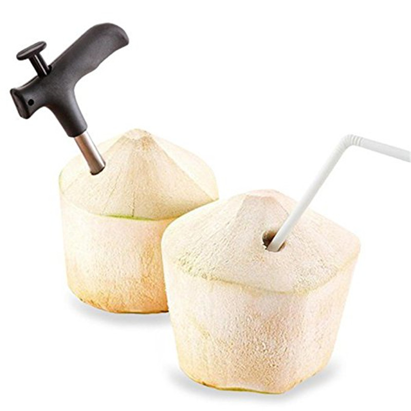 Coconut Opener Tool Coco Water Punch Tap Drill Straw Open Hole Cut kitchen accessories