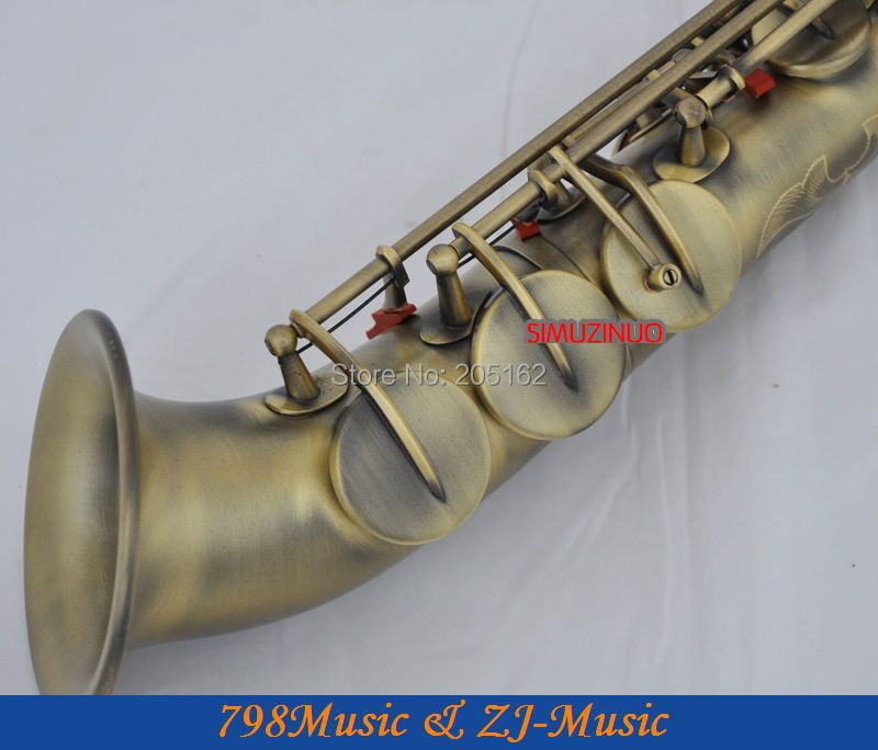 Antique Bronze Curved bell Soprano saxophone Bb key to High F key and G Key