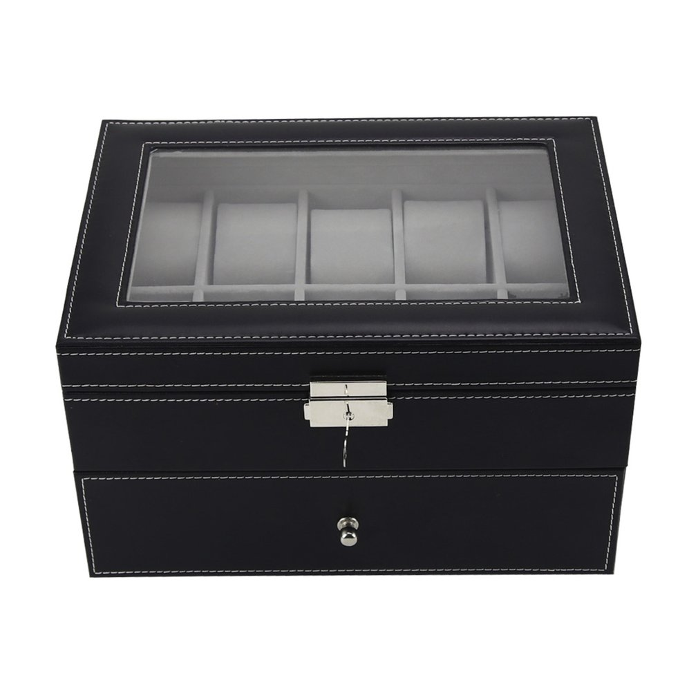 20 Grids Double Layers PU Leather Watch Box Jewelry Display Storage Box Case Watches Container Organizer Box20 Grids Double Layers PU Leather Watch Box Jewelry Display Storage Box Case Watches Container Organizer Box