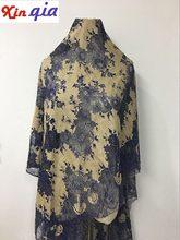 1 pieza encaje francés con pestaña tela flores encaje ropa falda decorativa cortinas para el hogar Accesorios Q685
