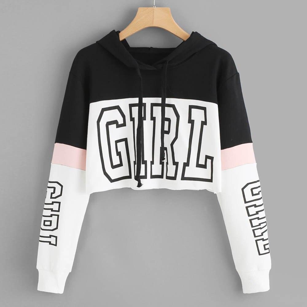 Harajuku Hoody Sweatshirt Wome...