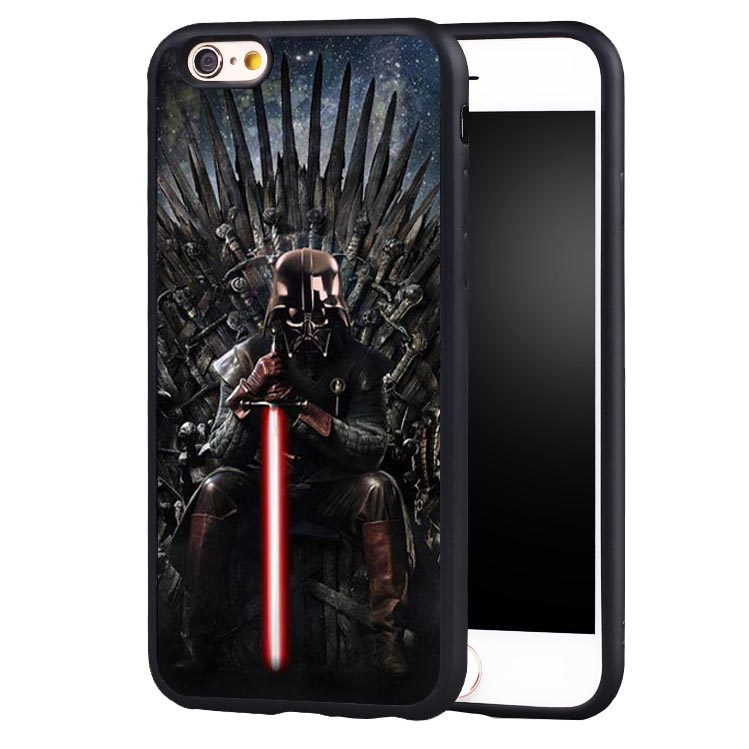 Star Wars Game Throne yoda Soft TPU Silicone Full Protective case Cover For iPhone X 8 7 7Plus 6 6S Plus 5 5S 5C SE