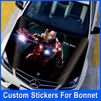Customizable DIY HD Inkjet 3D Carbon Hood Stickers Accessories Car Styling Vezel Sticker On Car Tinting Sticker Decal