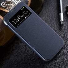ฝาครอบหนังสำหรับ Samsung Galaxy S4 S 4 SIV 9500 GalaxyS4 GT I9500 I9505 GT I9500 GT I9505 สมาร์ทดูเดิม