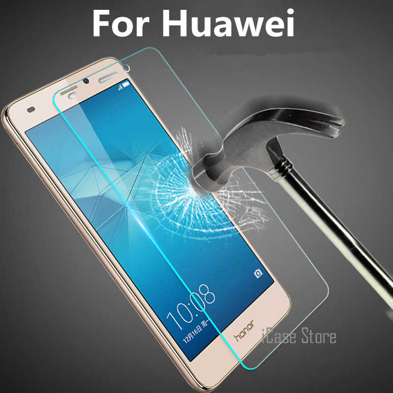 9H Tempered Glass Screen Protector Film For Huawei P10 Lite P9 Lite P8 Lite 2017 Duos P7 P6 Nova Lite Honor 8 Protective Case
