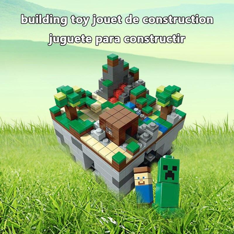 400+pcs Micro My World Building Blocks DIY Nether Bricks Blocks EnlightenToys For Kids Compatible LegoINGLY Minecraft Village 1