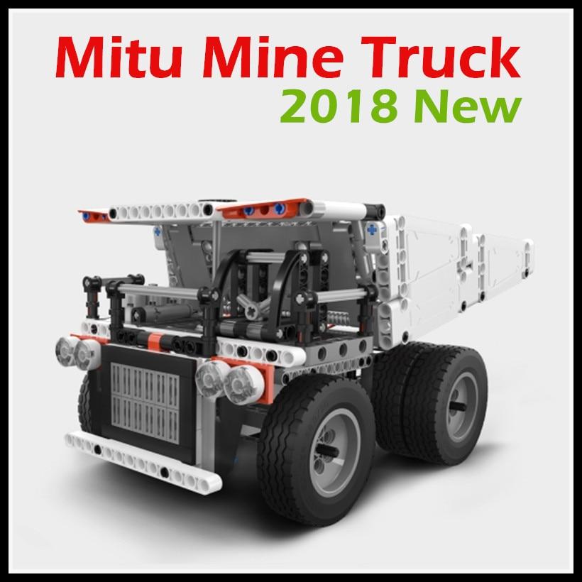 2018 New Xiaomi Mitu Block Robot Mine Truck For 6 Year Old Children Steering Wheel Control Dump Lift Smart Remote Control