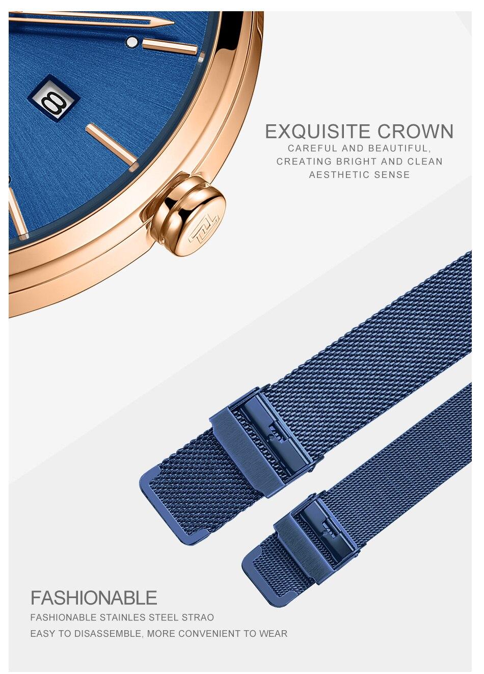 NAVIFORCE New Stylish Women Watches Top Brand Luxury Stainless Steel Strap Quartz Wristwatch For Woman Bracelet Watch 2019 Gift (11)