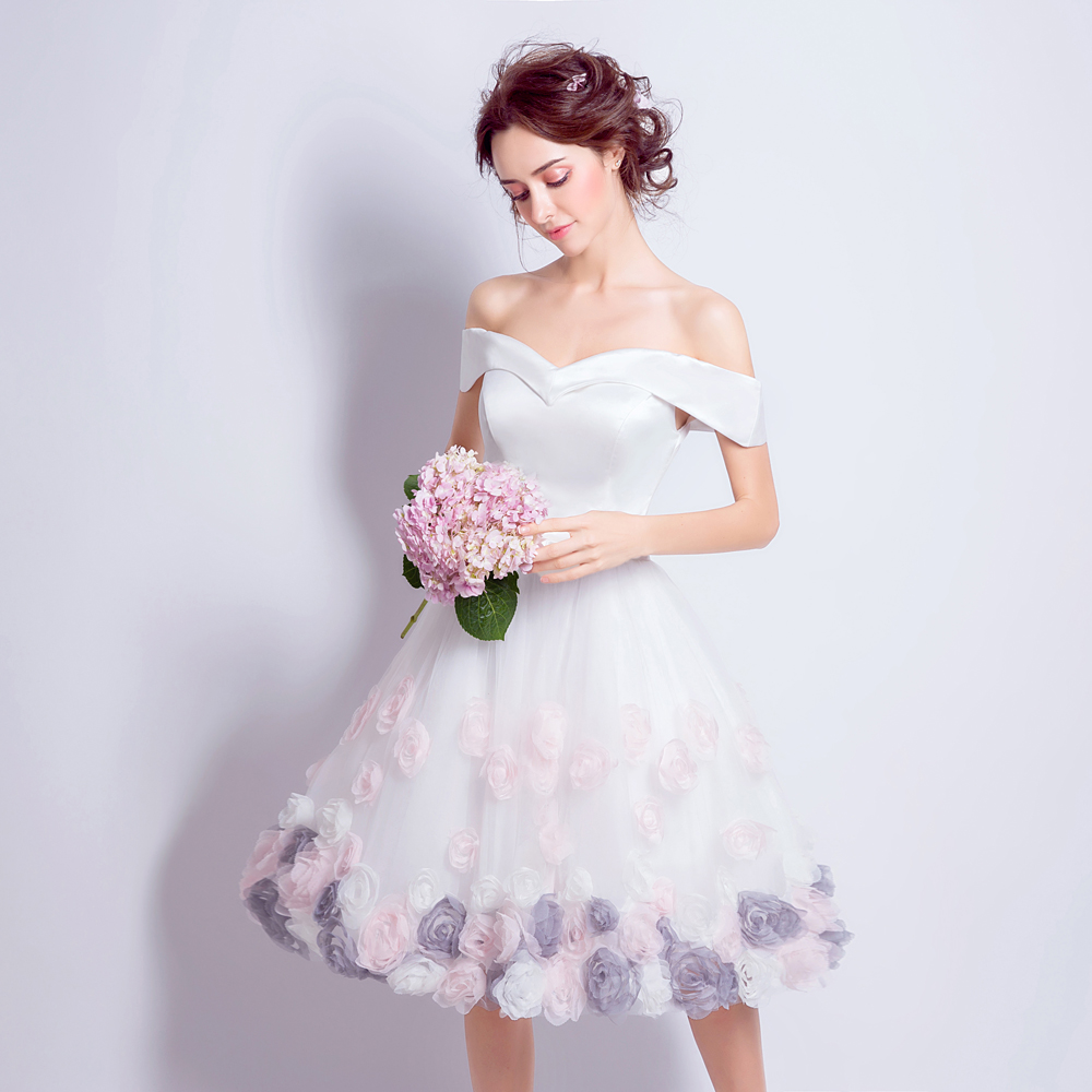 Angel wedding dress marriage evening bride party prom for Rose pink wedding dress