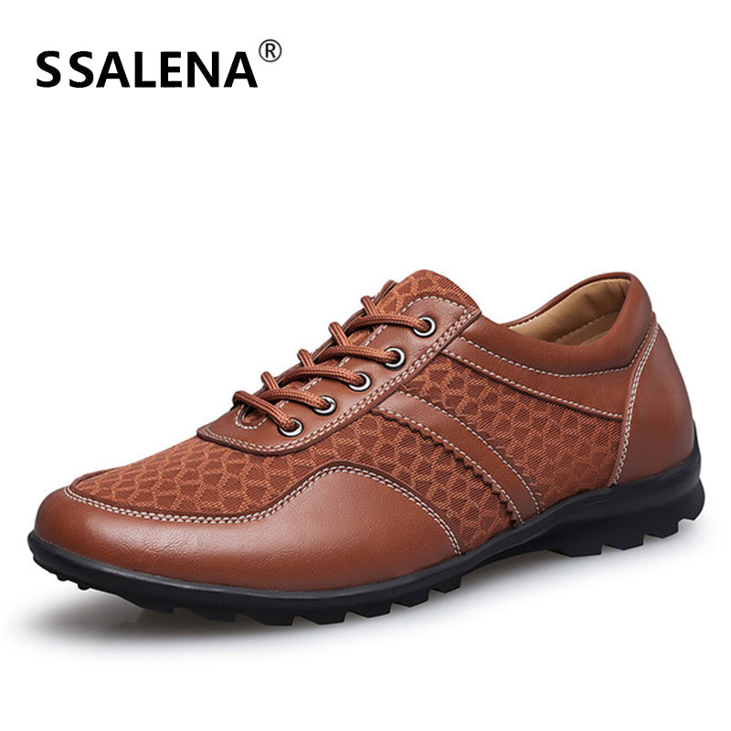 Mens Breathable Mesh Casual Shoe Male Soft Comfortable Lace Up Shoes Ultra Light Walking Driving Shoes