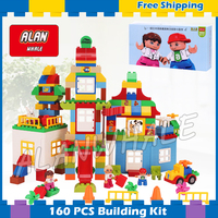 160pcs My First Deluxe Box Of Fun Amusement Model Big Size Building Blocks Sets Gifts Brick