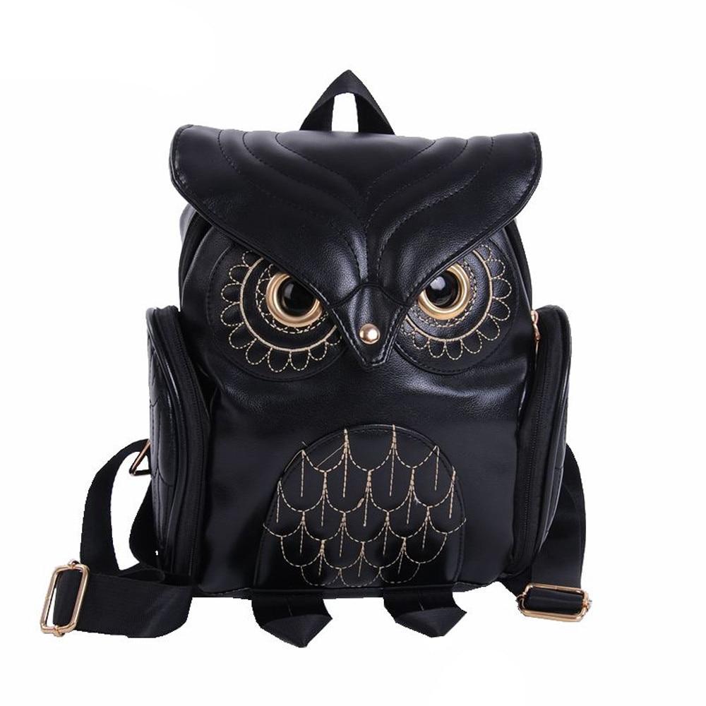 Xiniu moda lindo búho mochila mujeres bolsas de escuela de dibujos animados para adolescentes bolsas para mujeres 2018 cremallera PU mochila escolar