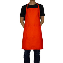2019 Korean Aprons for Woman Waitressing Apron Personalized Adjustable Neck with 2 Pockets 10 Color Long