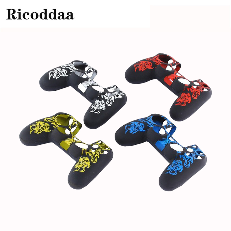 Soft Silicone Flexible Gel Rubber Skin Case Cover For PS4 Controller Silicone Case Cover For Sony Playstation 4 Game Accessories