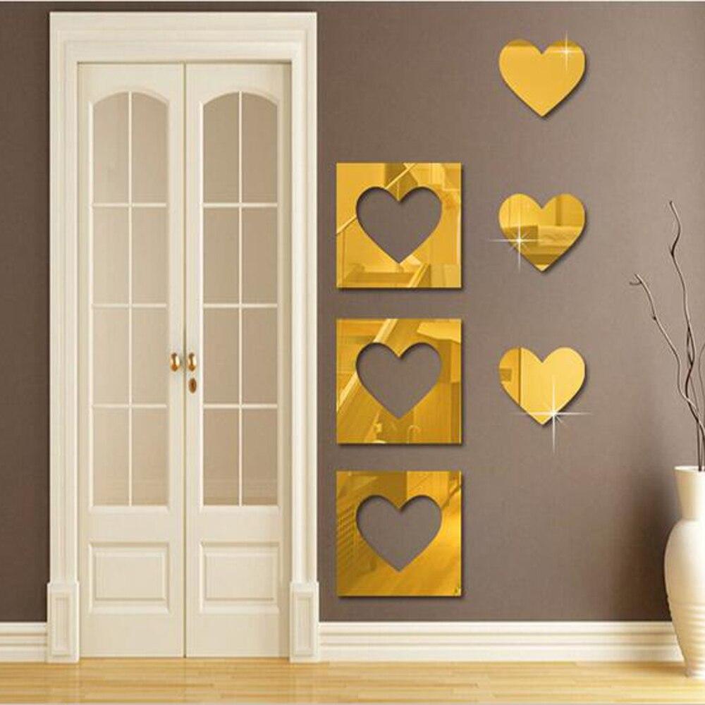 Achetez en gros miroir adh sif tuiles en ligne des - Decoration stickers muraux adhesif ...