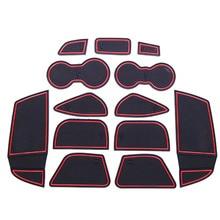 13Pcs set Car Interior Cup Mat Door Gate Slot Pad font b Storage b font Box