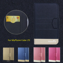 New Top Hot! MyPhone Cube LTE Case,5 Colors High quality Full Flip Fashion Customize Leather Luxurious Phone Accessories