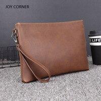 PU Leather Folder Luxury Business Document Bag Filing Meeting Handbag Zipper Layer Pocket Office Briefcase Supplies