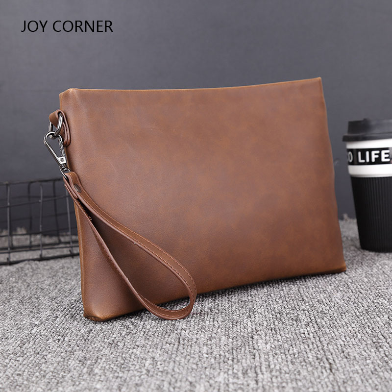 PU Leather Folder Luxury Business Document Bag Filing Meeting Handbag Zipper Layer Pocket Office Briefcase Supplies JOY CORNER купить
