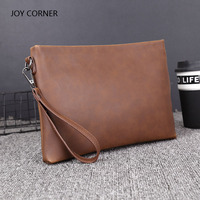 PU Leather Folder Luxury Business Document Bag Filing Meeting Handbag Zipper Layer Pocket Office Briefcase Supplies