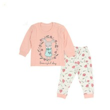 2017 new brand fashion baby girls clothes long sleeve t-shirt + pants 2pcs suit cotton baby girl newborn clothing set