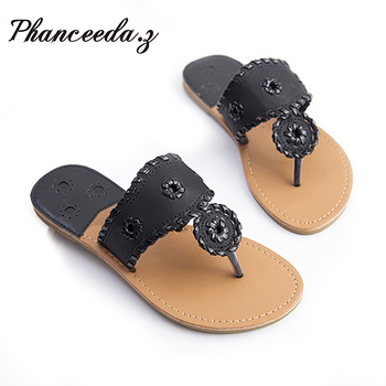 New 2018 Shoes Women Sandals Fashion Flip Flops Summer Style Hair ball Chains Flats Solid Slippers Sandal Flat Free Shipping 1