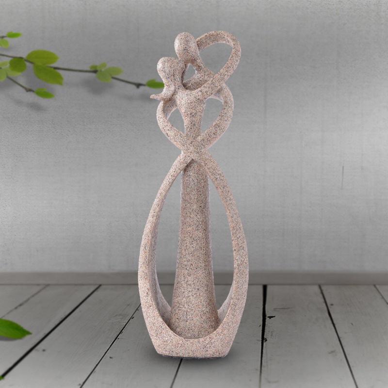 Wedding-Decoration Figurines Sandstone Vintage Lover Christmas-Gift White Souvenirs Anniversary