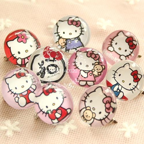 fd48c3076 Kawaii Cartoon Kitty Cat Brooch Pins,Harajuku Brooches.Chic Styling Badge  Jewelry.Cute Girls Sweater Accessories.U 002-in Badges from Home & Garden on  ...