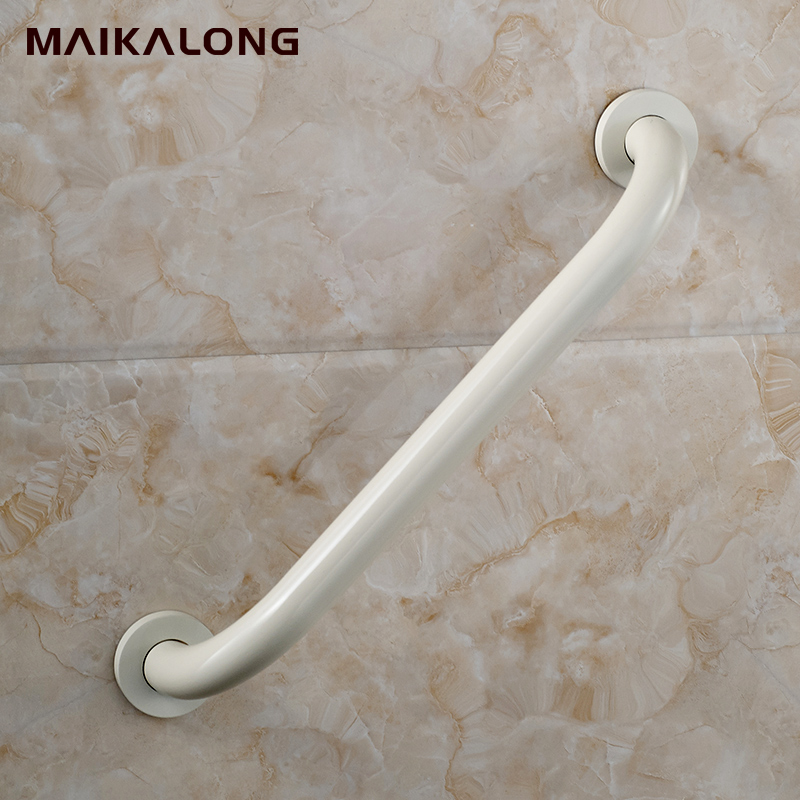 white paiting baked 304Stainless SteelBathroom grab bars, Solid ...